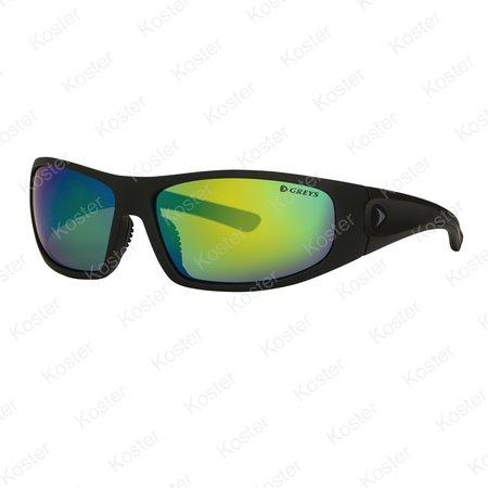 Greys G1 Sunglasses Matt Carbon - Green Mirror