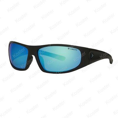 Greys G1 Sunglasses Matt Carbon - Blue Mirror