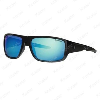 Greys G2 Sunglasses Gloss Black Fade - Blue Mirror