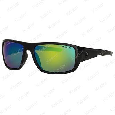 Greys G2 Sunglasses Gloss Black - Green Mirror