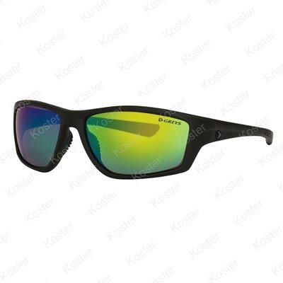 Greys G3 Sunglasses Matt Carbon - Green Mirror