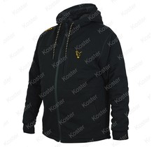 Black/Orange Sherpa Hoody