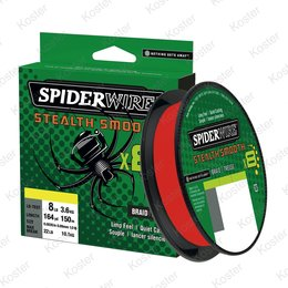 Spiderwire Stealth Smooth 8 Red 1 Meter