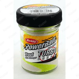 Berkley PowerBait Glitter Turbo Dough White/Chartreuse