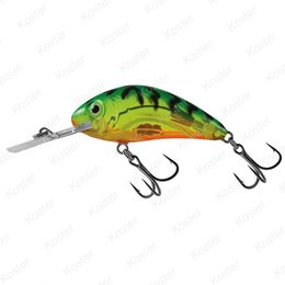 Salmo Rattlin' Hornet Clear Hot Green Tiger Floating 4.5cm