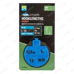 Preston Revalution Hooklengths N50 (onderlijnen)