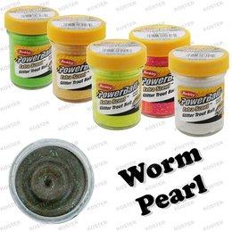 Berkley PowerBait Glitter Worm Pearl