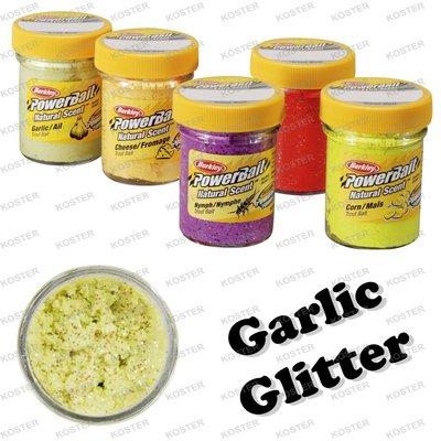 Berkley PowerBait Natural Scent Garlic Glitter