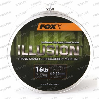 FOX Illusion Fluorocarbon Mainline Trans Khaki