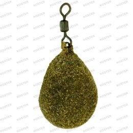 Korda Textured Flat Pear Swivel Lead