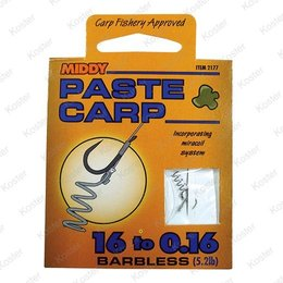 Middy Paste Carp rig Barbless