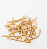 Goudkleurig 09 Gold color elastic Length 90 mm, Width 4 mm
