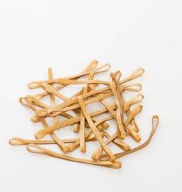 Goudkleurig 15 Gold color elastic band Length 140 mm, Width 2 mm