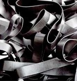 Black H.08 Schwarze Gummibänder 90 mm, Breite 2 mm
