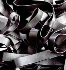 Black H.12 schwarze Gummibänder 90 mm, Breite 10 mm