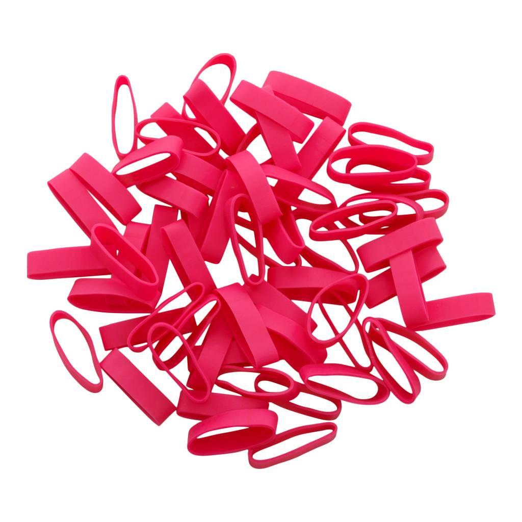 Pink B.04 Rosa gummibänder 50 mm, Breite 8 mm