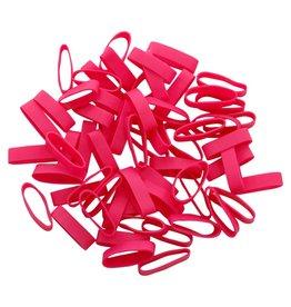Pink 01 Rosa gummibänder 50 mm, Breite 2 mm