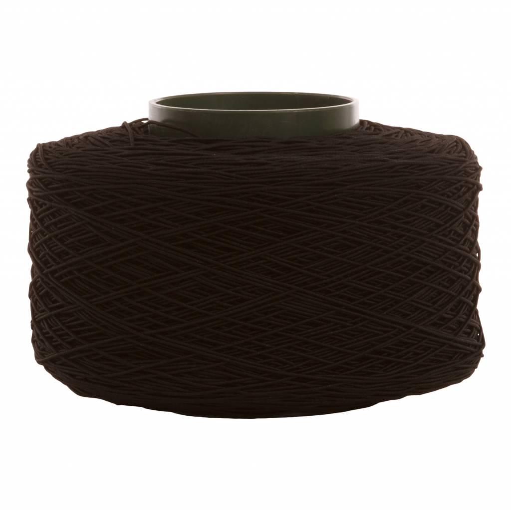 02 Koord elastiek - 2 mm - zwart - 200 meter/rol