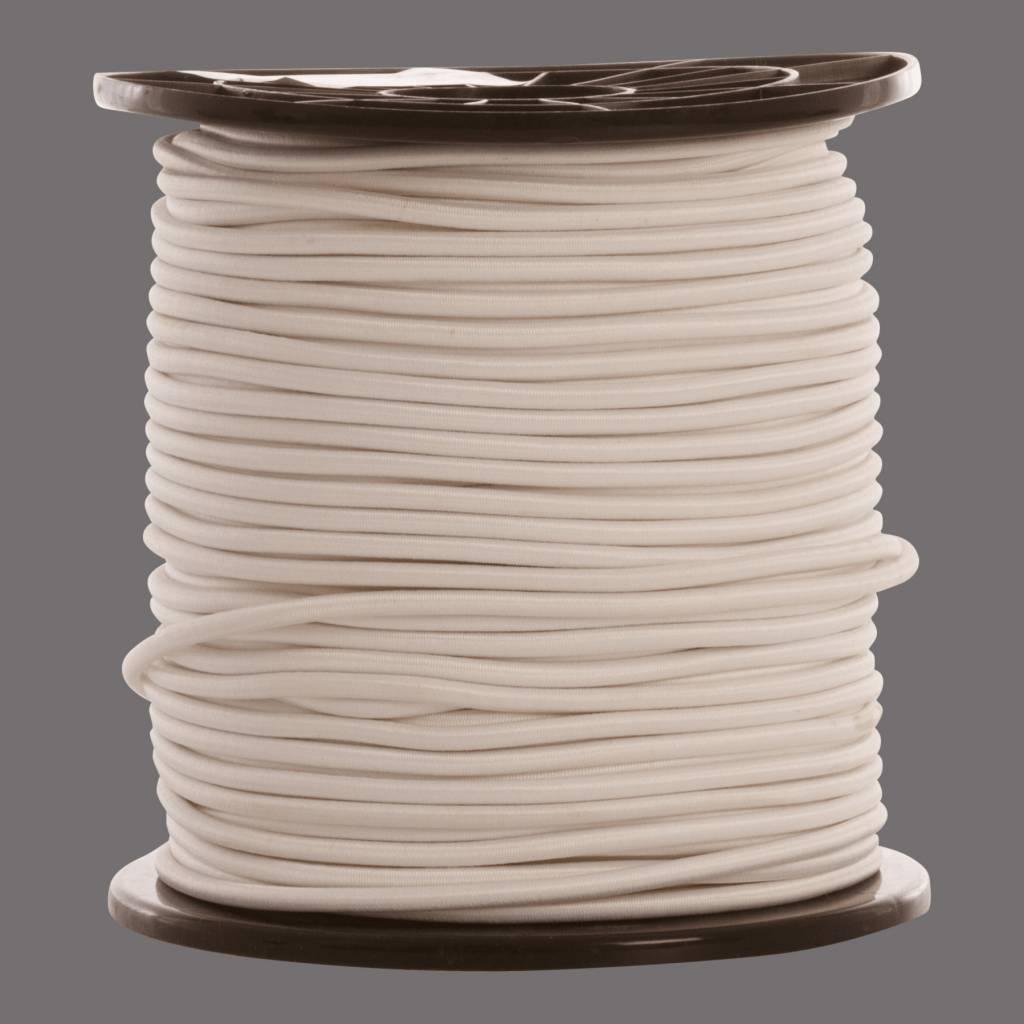 15 Gummispannseile 12 mm weiß - 95 bis 100 Meter - weiß