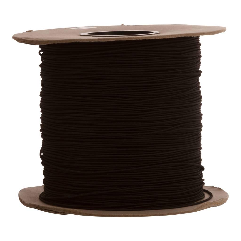 14 Gummispannseile 12 mm schwarz - 95 bis 100 Meter