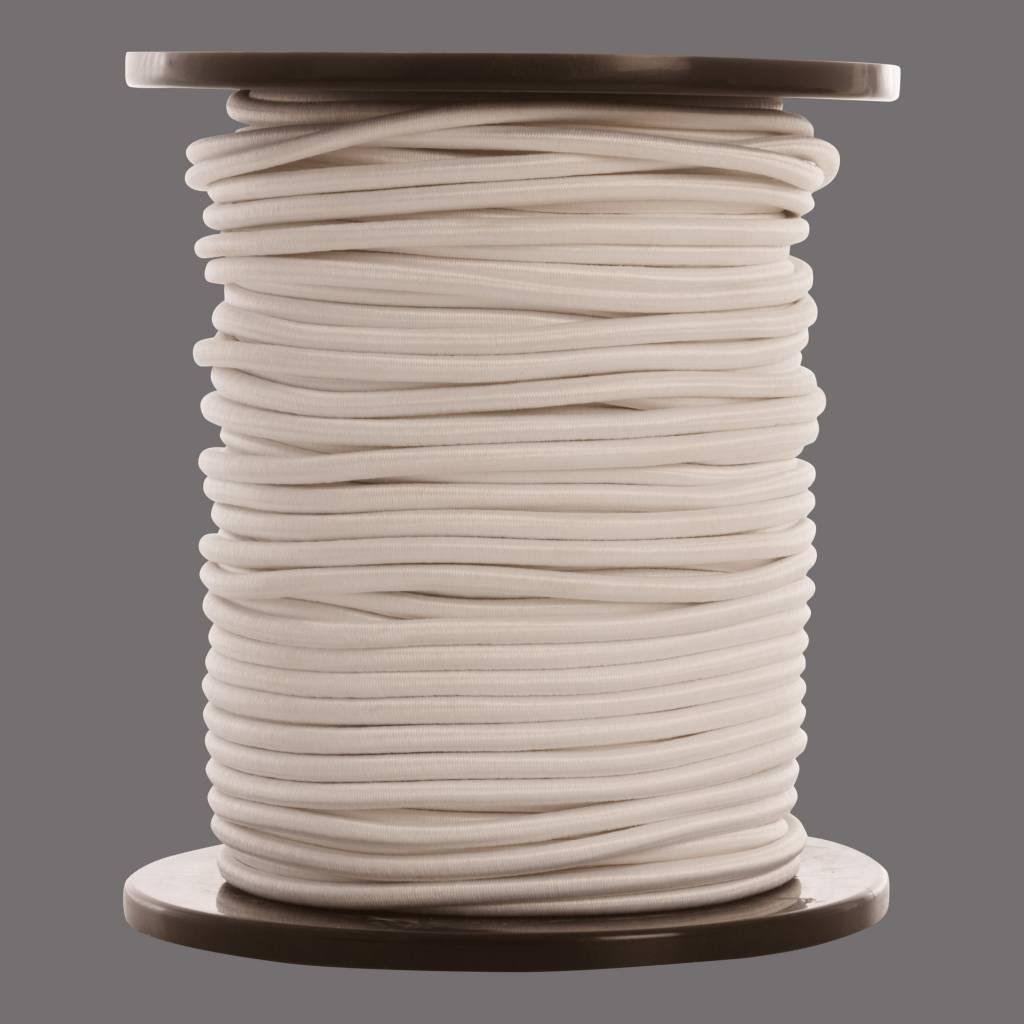 13 Gummispannseile - 10 mm - 95 bis 100 Meter - Weiß
