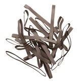 Silver K.08 Silver colored elastic band Length 90 mm, Width 2 mm