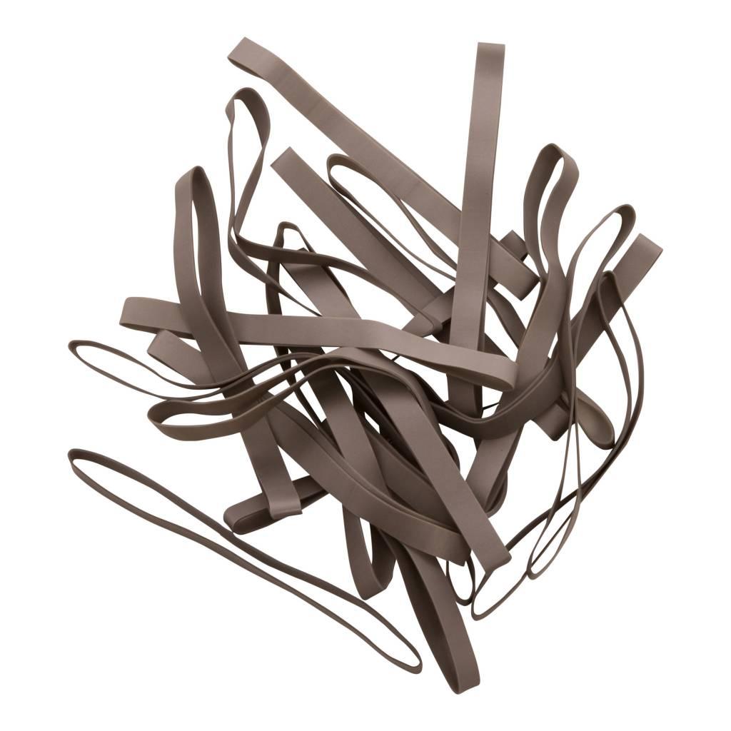 Silver K.05 Zilverkleurig elastiek Lengte 50 mm, Breedte 10 mm