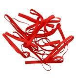 Red A.03 Rote Gummibänder 50 mm, Breite 6 mm
