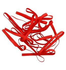 Red A.04 Élastique couleur rouge Longueur  50 mm, Largeur 8 mm
