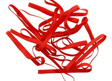 Red elastic bands