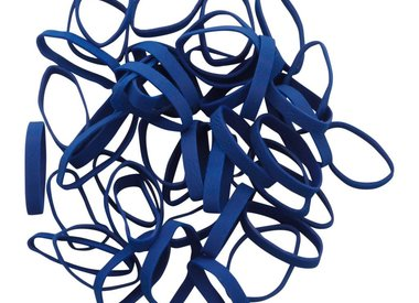 Dark blue elastic bands