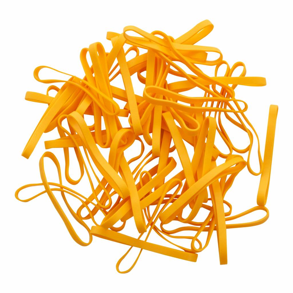 Yellow L.09 Gelbe Gummibänder 90 mm, Breite 4 mm