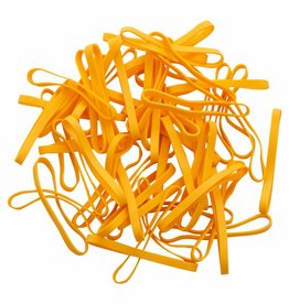 Yellow L.02 Gelbe Gummibänder 50 mm, Breite 4 mm