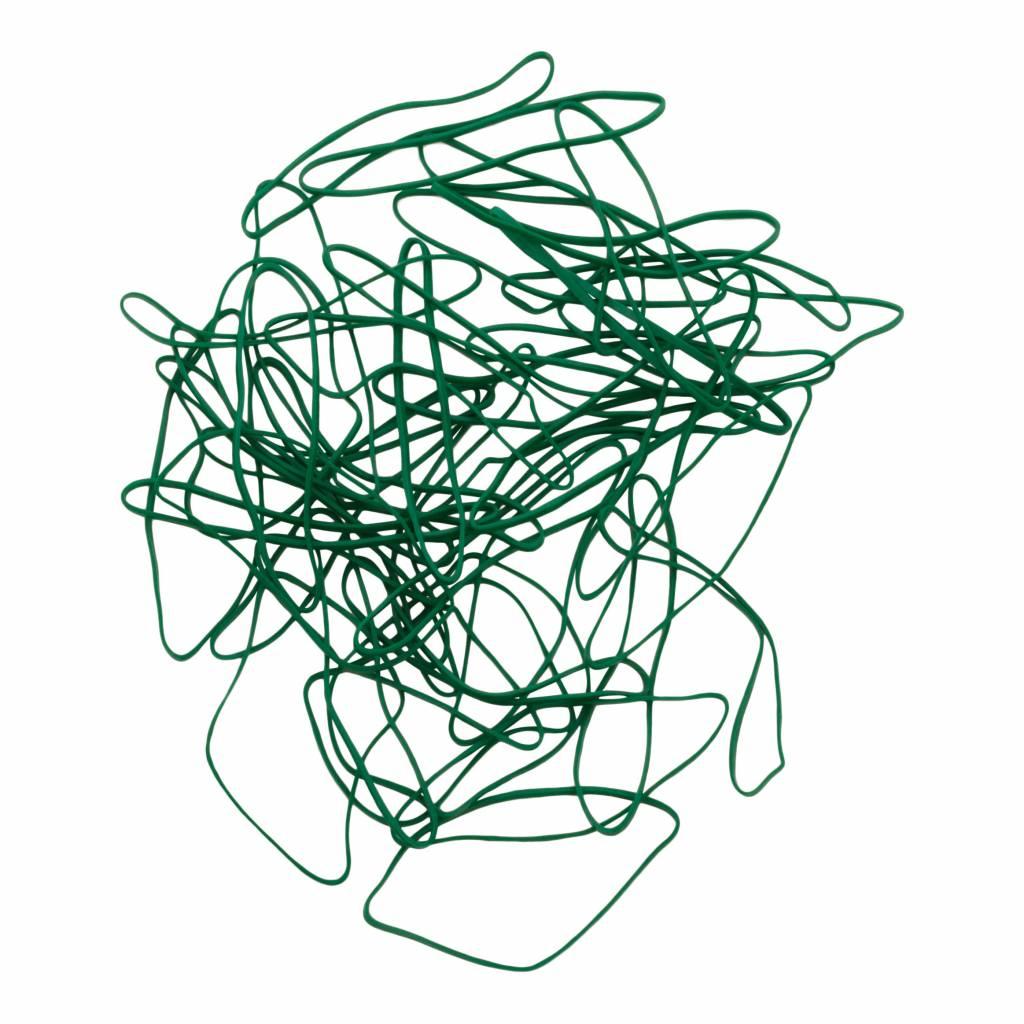Green 08 Green elastic band Length 90 mm, Width 2 mm