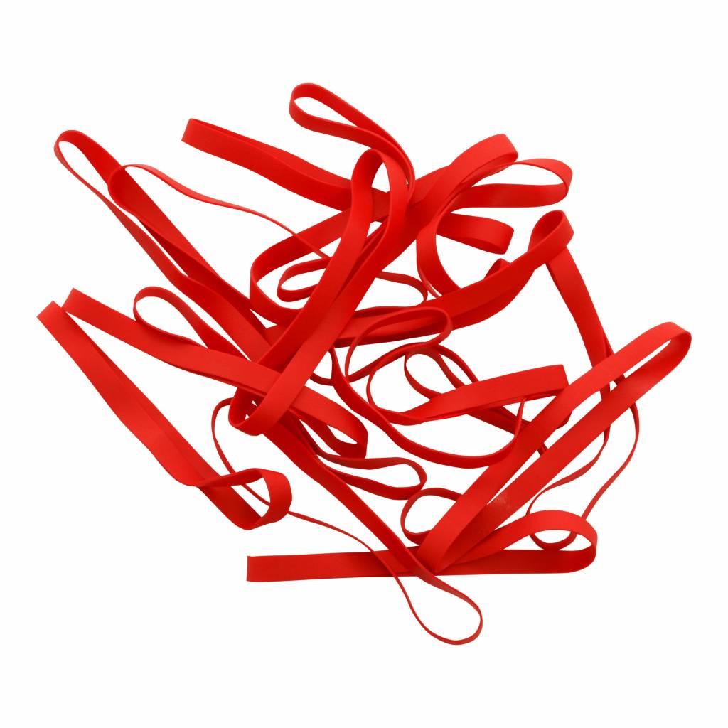 Red A.01 Élastique couleur rouge Longueur 50 mm, largeur 2 mm