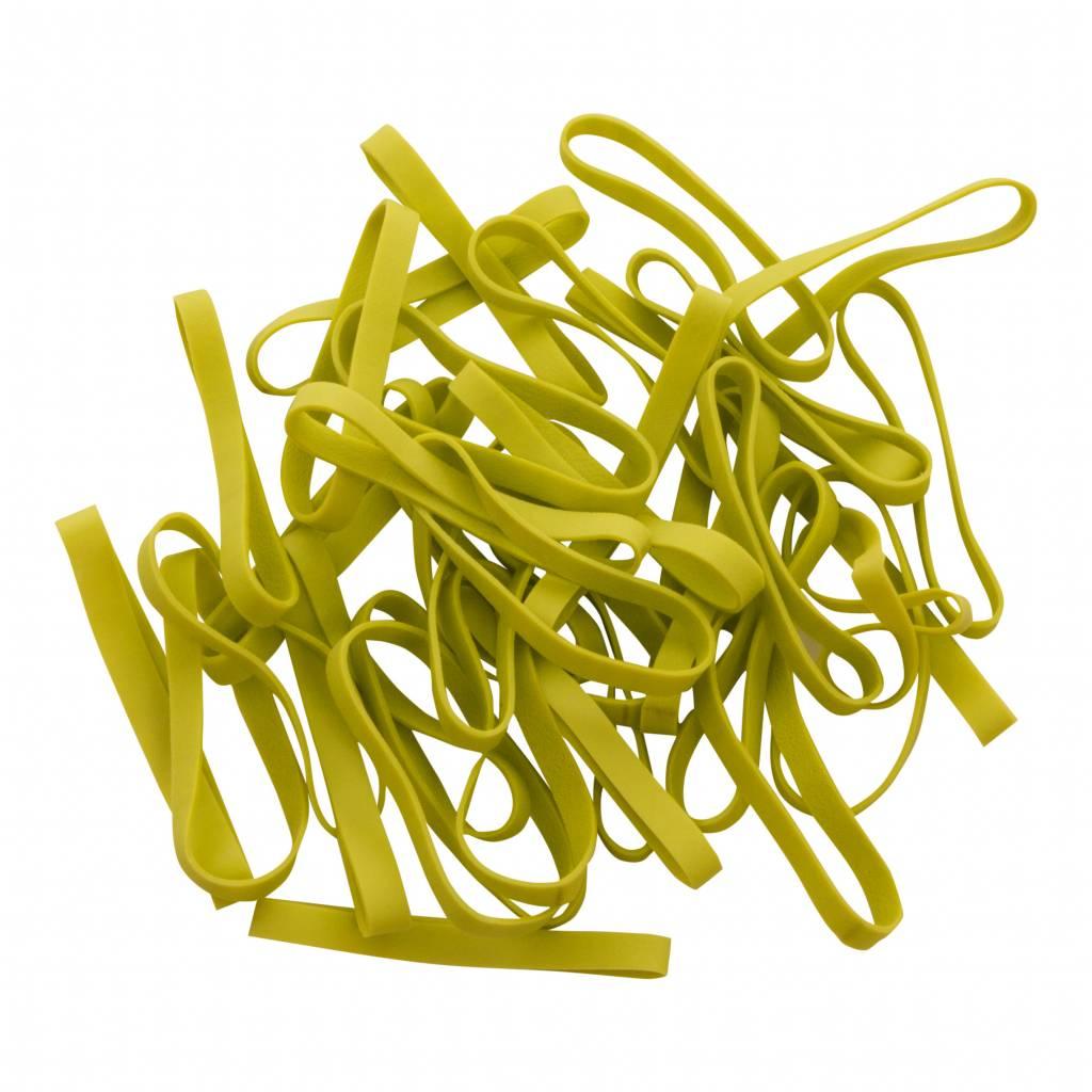 Lime green I.10 Limegroen elastiek Lengte 90 mm, Breedte 6 mm
