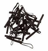 Black H.22 schwarze Gummibänder 180 mm, Breite 2 mm