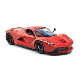 Bburago Ferrari LaFerrari rood 1:18