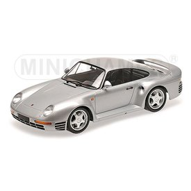 Minichamps Porsche 959 1987 zilver - Modelauto 1:18