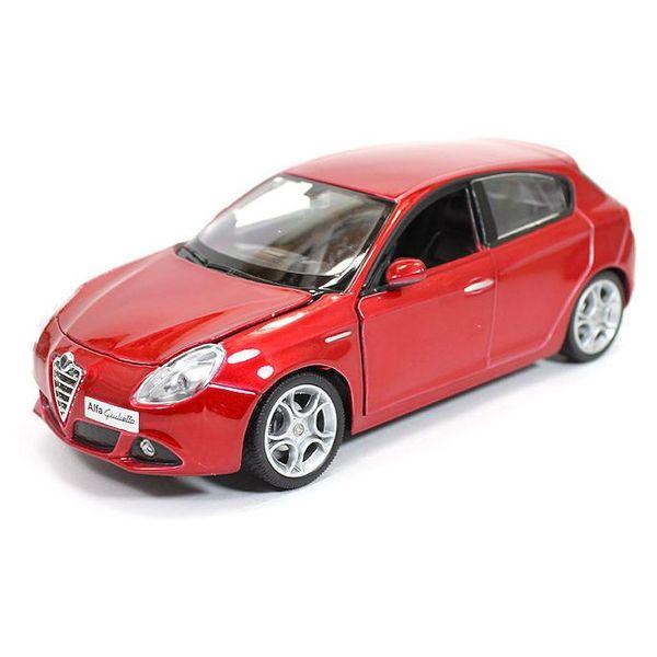 Modelauto Alfa Romeo Giulietta rood metallic 1:24 | Bburago