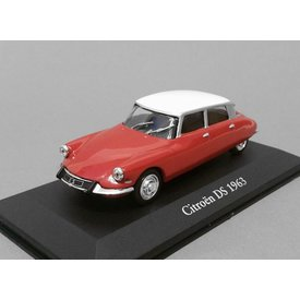 Atlas Citroën DS 1963 red/white - Model car 1:43