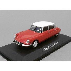 Atlas Citroën DS 1963 rood/wit - Modelauto 1:43