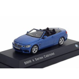 iScale BMW 4 Series Cabriolet (F33) 2013 blue metallic - Model car 1:43