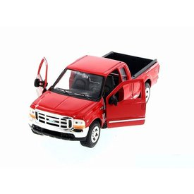 Welly Ford F-350 Pickup rood 1:24