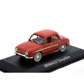 Atlas Renault Dauphine rood - Modelauto 1:43
