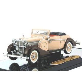 Signature Models Maybach SW 38 Cabriolet 1937 creme/bruin 1:43