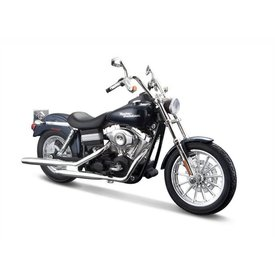 Maisto Harley Davidson FXDBI Dyna Street Bob 2006 donkerblauw - Modelmotor 1:12