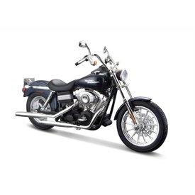 Maisto Harley Davidson FXDBI Dyna Street Bob 2006 donkerblauw 1:12