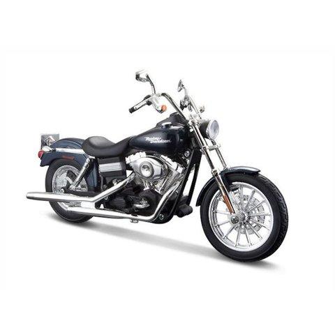 Harley Davidson FXDBI Dyna Street Bob 2006 dunkelblau 1:12