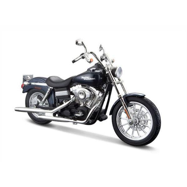 Modell-Motorrad Harley Davidson FXDBI Dyna Street Bob 2006 dunkelblau 1:12